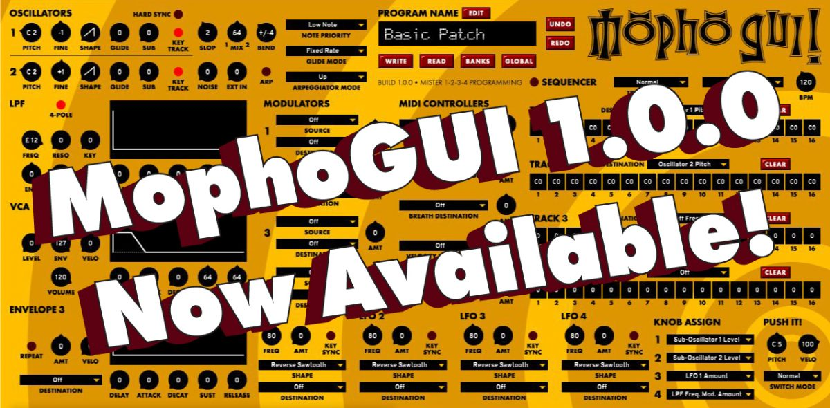 1st Official Release of MophoGUI VST3!
